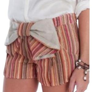 Judith March Anthropologie  Bow Front Shorts